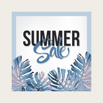 Banner de venda de verão.