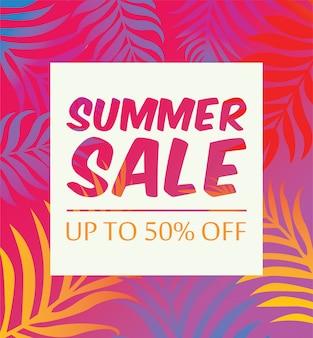 Banner de venda de verão