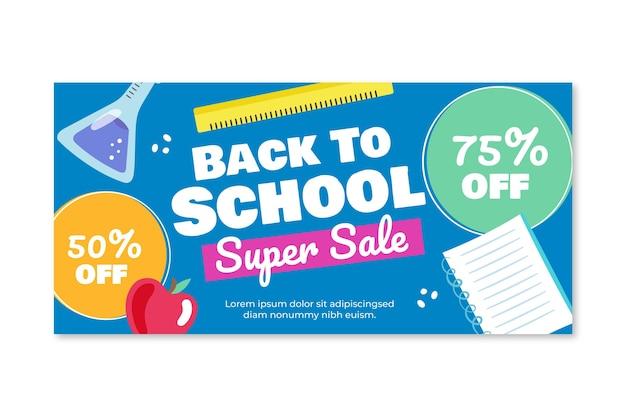 Banner de venda de volta às aulas