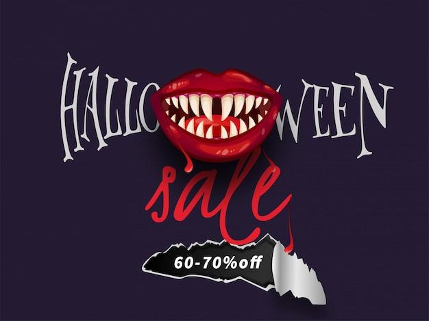 Banner de venda do dia das bruxas.