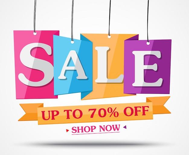 Banner de venda e melhor design de oferta