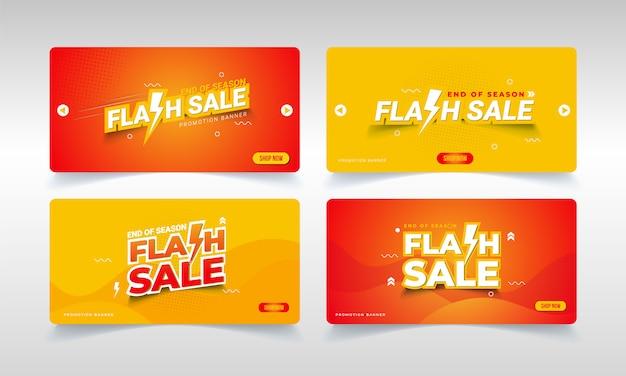 Banner de venda em flash para a promoção de final de temporada