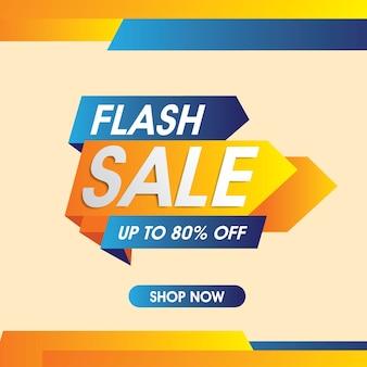 Banner de venda em flash. vetor de venda e desconto