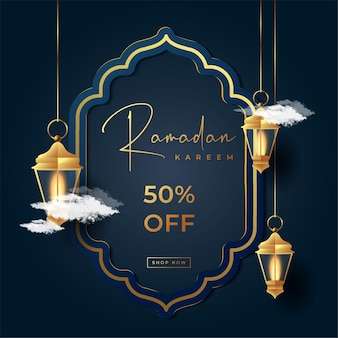 Banner de venda especial ramadan kareem