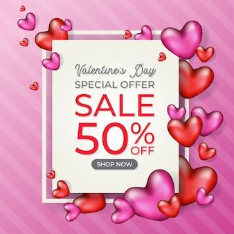 Banner de venda feliz dia dos namorados