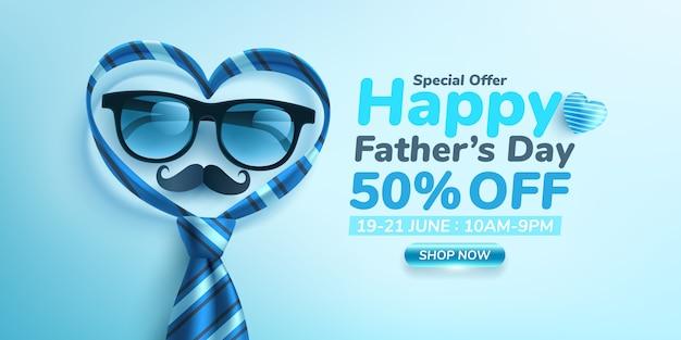 Banner de venda feliz dia dos pais