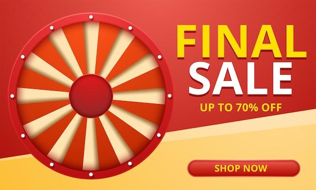 Banner de venda final de oferta especial