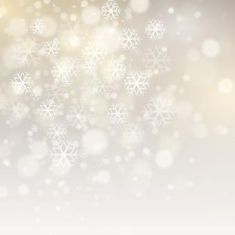 Banner de venda fundo de natal com flocos de neve