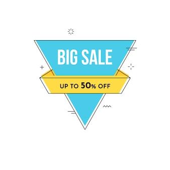 Banner de venda geométrica com estilo de memphis
