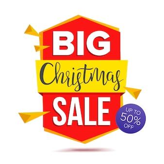 Banner de venda grande de natal
