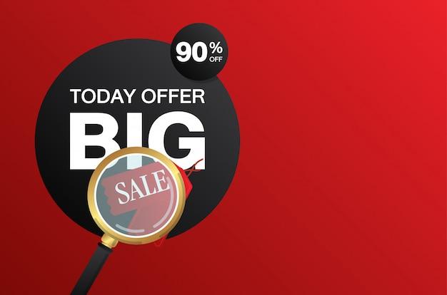 Banner de venda grande de zoom de ampliação