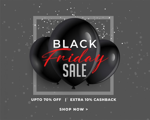 Banner de venda incrível sexta-feira negra no escuro