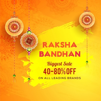 Banner de venda maior de raksha bandhan