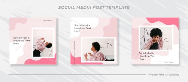 Banner de venda minimalista para modelo de postagem em mídia social