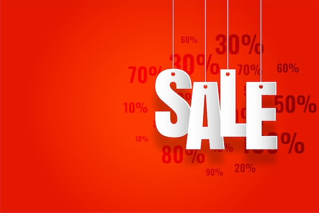 Banner de venda moderno com área de espaço de texto