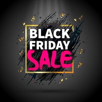 Banner de venda na sexta-feira negra
