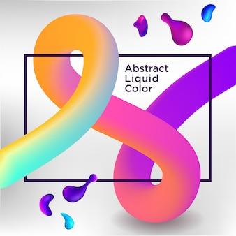 Banner de venda no fundo liquify fluid cor
