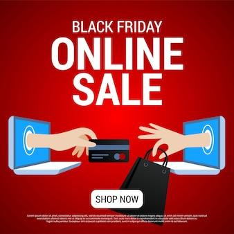 Banner de venda on-line sexta-feira negra