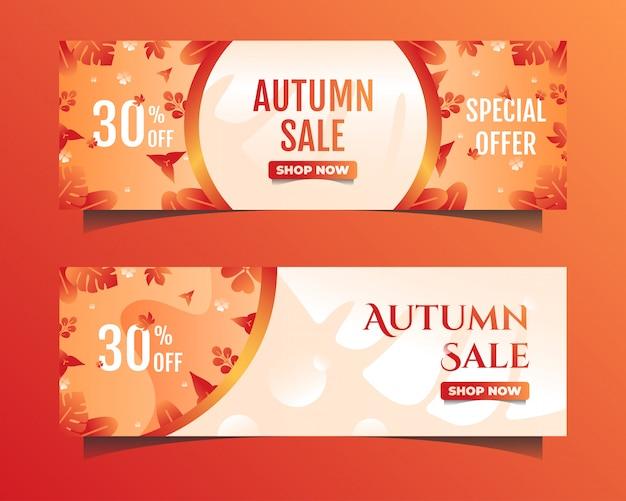 Banner de venda outono