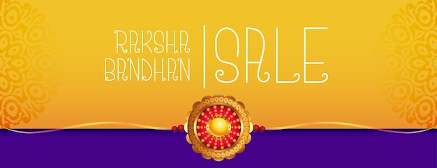 Banner de venda para design raksha bandhan