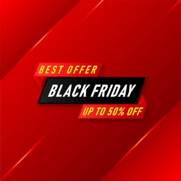Banner de venda preto de melhor oferta na sexta-feira
