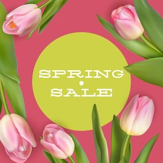 Banner de venda primavera brilhante