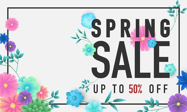 Banner de venda primavera