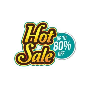 Banner de venda quente, até 80% de desconto