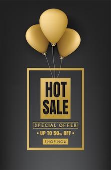 Banner de venda quente