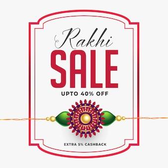 Banner de venda rakhi com detalhes da oferta