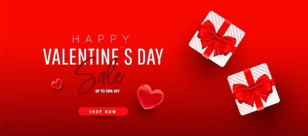 Banner de venda romântico feliz dia dos namorados