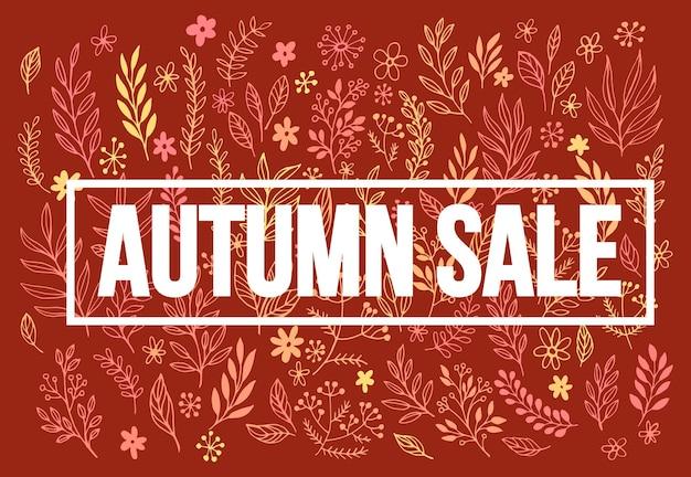 Banner de venda sazonal de outono