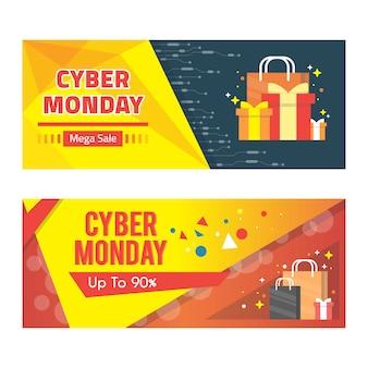 Banner de venda segunda-feira cibernética