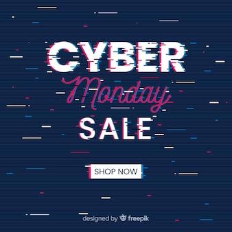 Banner de venda segunda-feira cyber falha