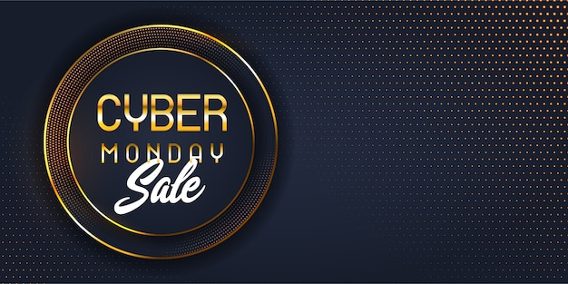 Banner de venda segunda-feira cyber moderna