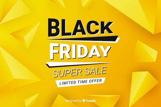Banner de venda sexta-feira design plano preto