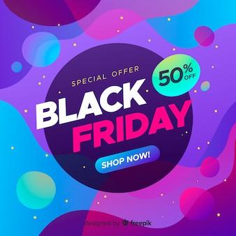 Banner de venda sexta-feira negra gradiente