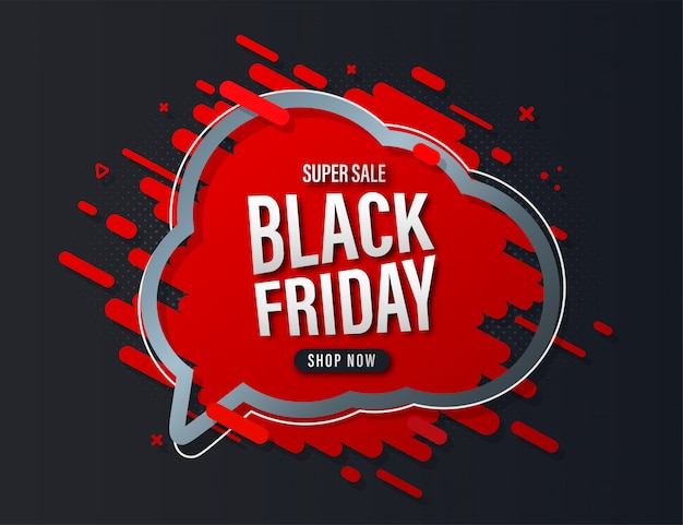 Banner de venda sexta-feira negra.