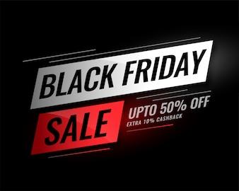 Banner de venda sexta-feira preta com detalhes de desconto
