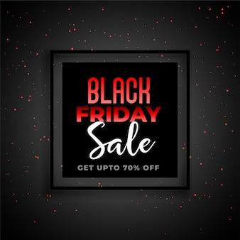 Banner de venda sexta-feira preta no tema vermelho e preto