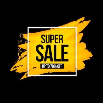 Banner de venda super aquarela