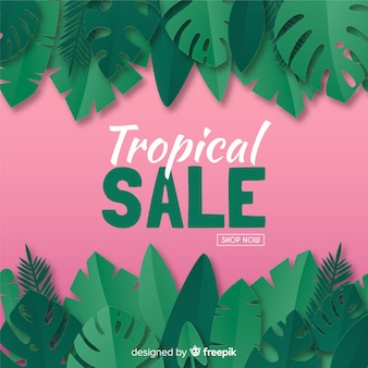 Banner de venda tropical