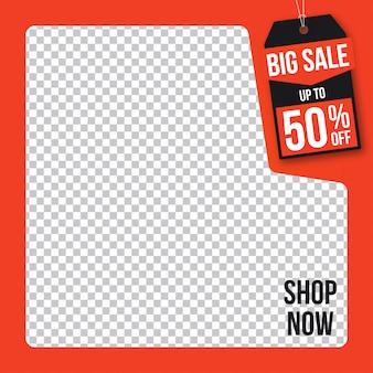 Banner de venda web mídias sociais instagram