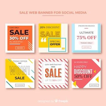 Banner de venda web para coleta de mídia social