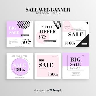 Banner de venda web para mídias sociais