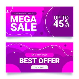 Banner de vendas abstrato gradiente