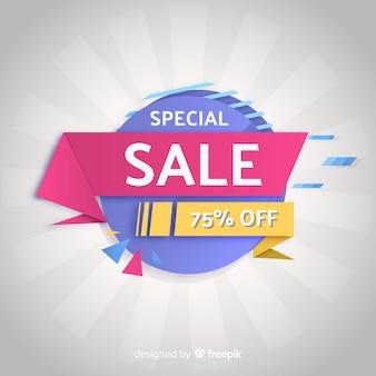 Banner de vendas colorido em estilo abstrato