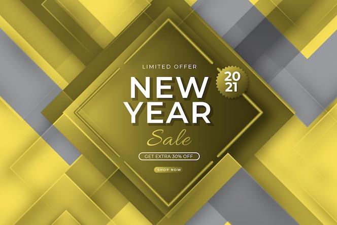 Banner de vendas com cores cinza iluminantes e definitivas
