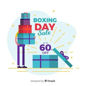 Banner de vendas de dia de boxe