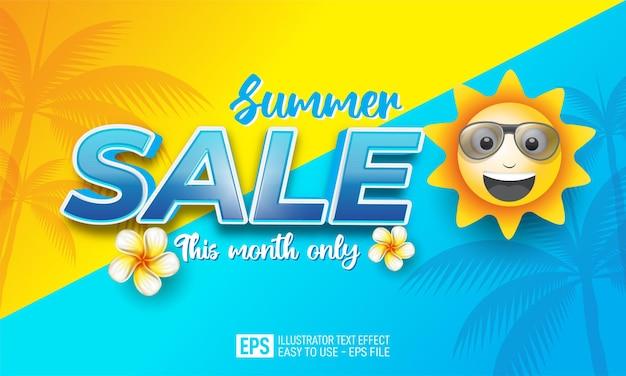 Banner de vendas de fim de verão
